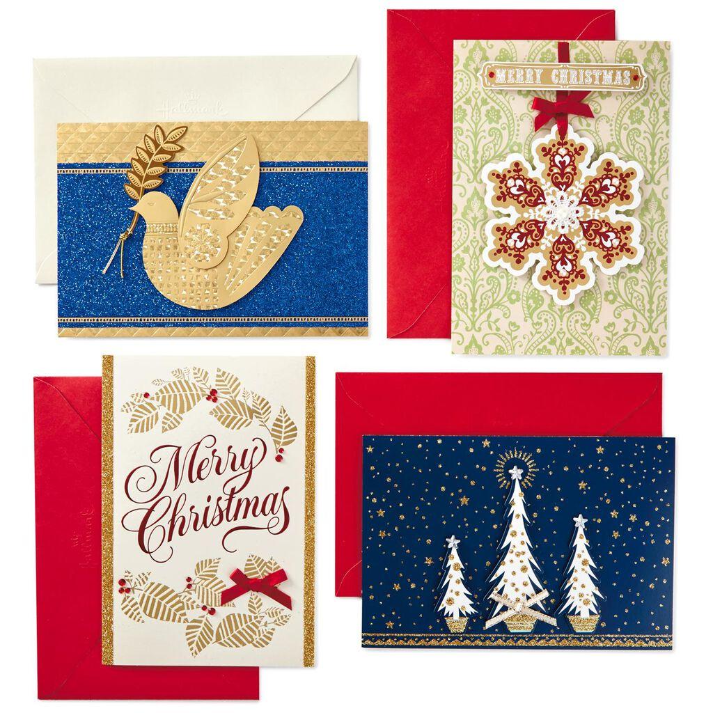 Assorted Handmade Christmas Cards Box Of 24 Boxed Cards Hallmark