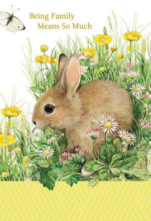 Marjolein Bastin Rabbit and Flowers Birthday Card
