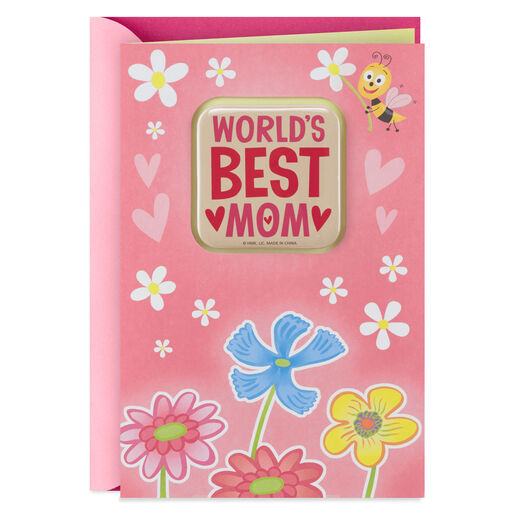 Worlds Best Mom Mothers Day Card From Daughter With Removable