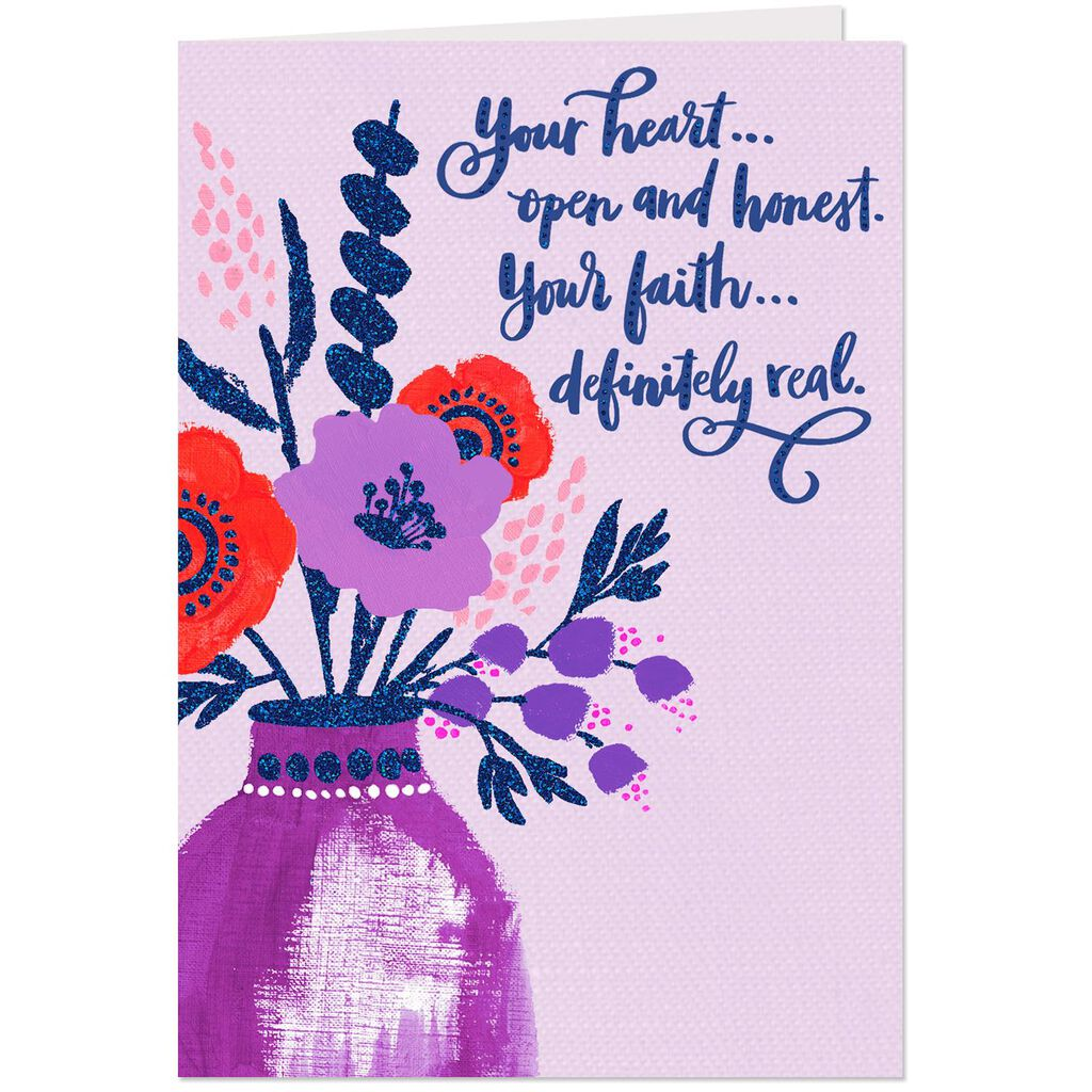 I Thank God For You Religious Birthday Card