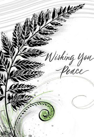 Wishing You Peace Sympathy Card