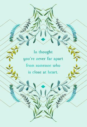 In Thought You're Never Far Apart Miss You Card