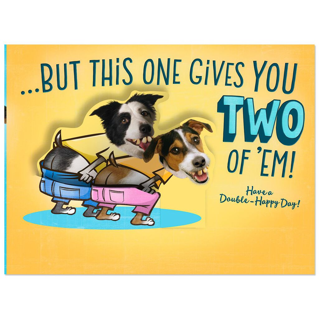 Mooning Dogs Funny Birthday Card For Son