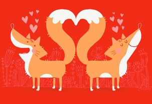 Foxy Love Anniversary Card