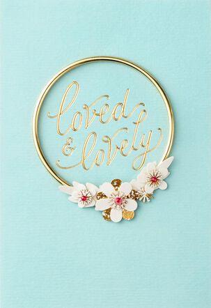 Flower Bracelet Mother's Day Card