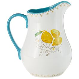 Country Lemon Ceramic Pitcher, , large