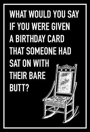 Bare Butt Funny Birthday Card