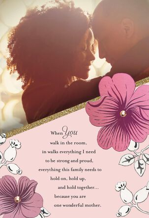 Brilliant Beauty Mother's Day Card for Wife