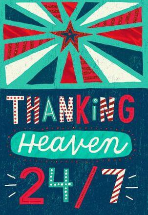 Thank Heaven Christmas Card