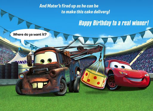 Cars Lightning McQueen and Mater Grandson Birthday Card,