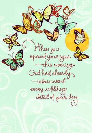 Butterflies of Encouragement Religious Card