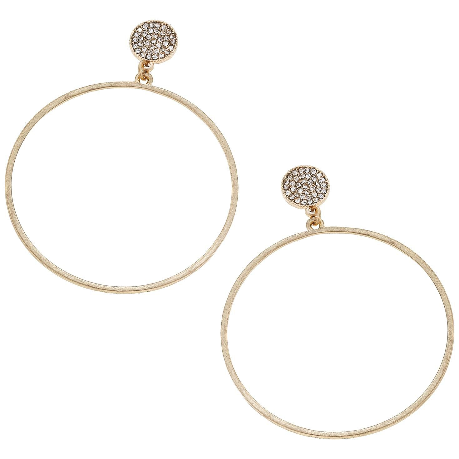 large sale gold earring whistles tube women accessories earrings medium circle