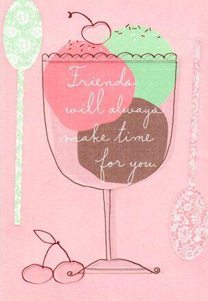 Birthday Dessert Friend Card