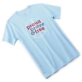 Proud Brave and Free Men's T-Shirt, , large