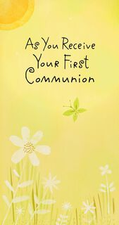Butterfly and Flowers First Communion Money Holder Card,