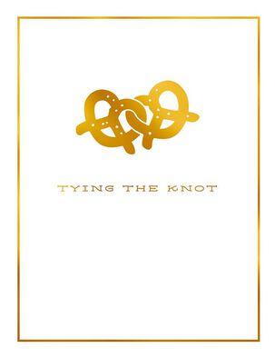 Tying the Knot Pretzel Wedding Card