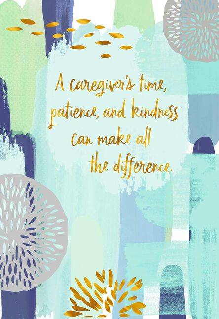 You Make All The Difference Thank You Card For Caregiver Greeting