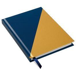 Blue and Yellow Diagonal Foil Journal, , large