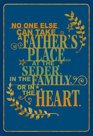 A Father's Place Passover Card