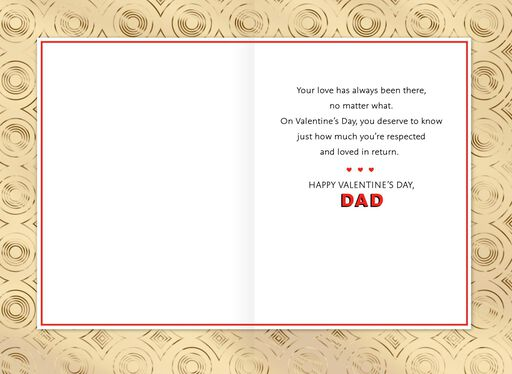 A Dad's Love Valentine's Day Card,