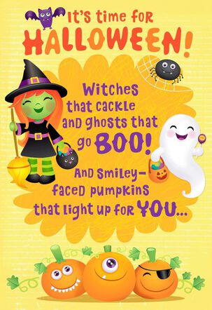 Frightfully Sweet Witches and Ghosts Halloween Card