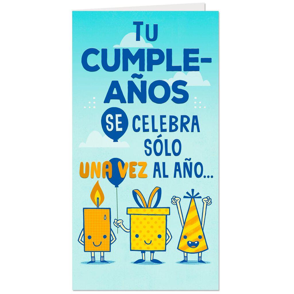 Celebrating You Spanish Language Money Holder Birthday Card