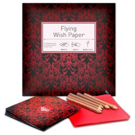 Lunar New Year Red Velvet Flying Wish Paper Kit, Pack of 50, , large