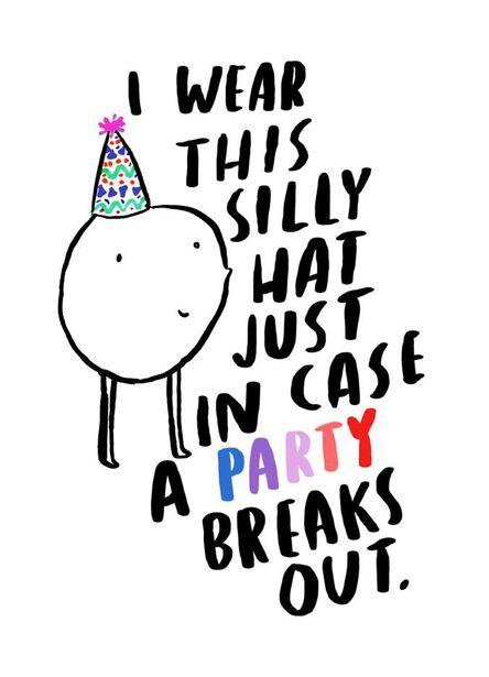 Silly Hat Time Birthday Card - Greeting Cards - Hallmark