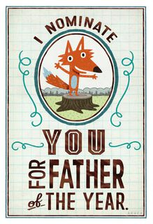 Nominated for Father of the Year Father's Day Card,