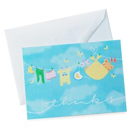 Baby Clothesline Thank You Notes, Pack of 20, , large
