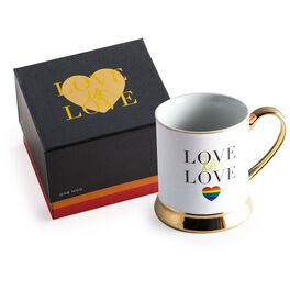 Love Is Love Rainbow Heart Mug, 12 oz, , large