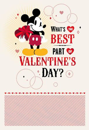 Disney Mickey Mouse Birthday Valentine's Day Card