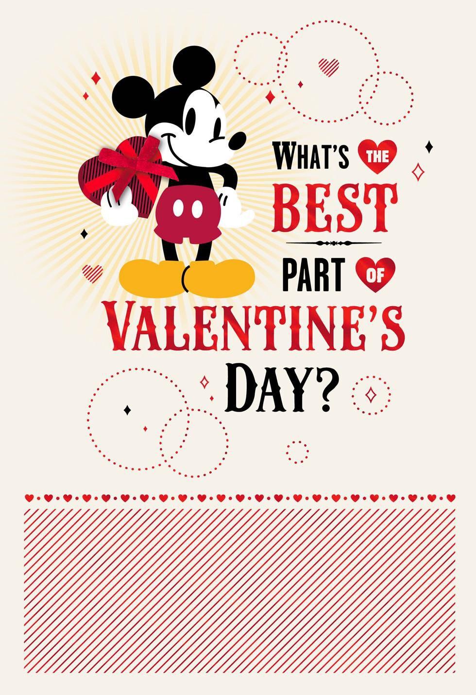 Disney Mickey Mouse Birthday Valentineu0027s Day Card