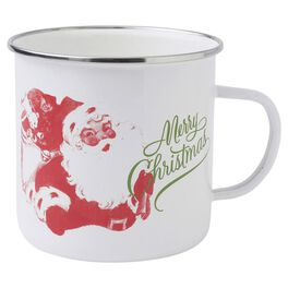 Holiday Vintage-Inspired Santa Merry Christmas Mug, , large