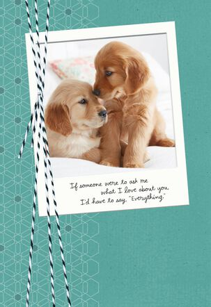 Love Everything About You Birthday Card