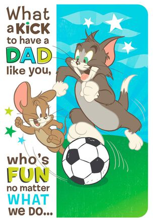 Fun with Tom and Jerry from Son Father's Day Card