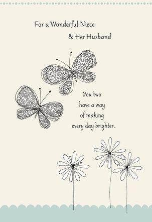 Butterflies Wedding Card for Niece