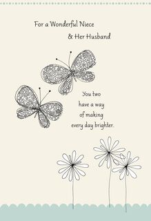 Butterflies Wedding Card for Niece,