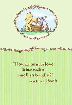 Winnie the Pooh Bundle of Joy New Baby Card