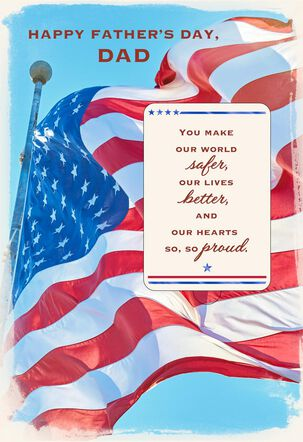 Old Glory Father's Day Card for Dad