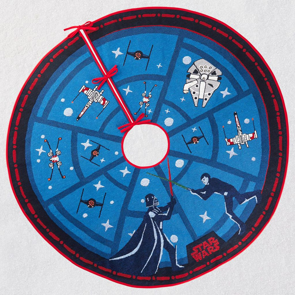 Star Wars The Force Is Strong Tree Skirt With Light Keepsake