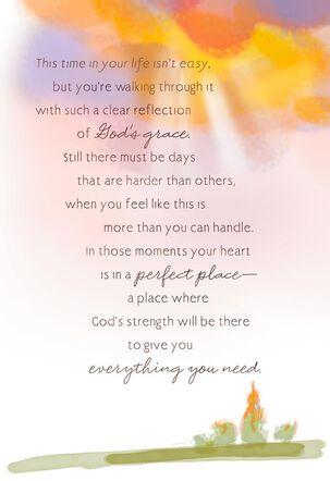 God's Peace and Strength Religious Encouragement Card
