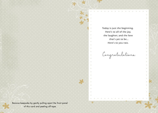 Joy, Laughter and Love Wedding Card,
