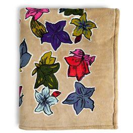 Vera Bradley Throw Blanket in Falling Flowers Neutral, , large