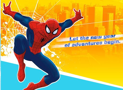 Marvel S Spider Man Amazing Holiday Christmas Card Greeting Cards