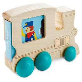 Wood Train Toy With Book, , large