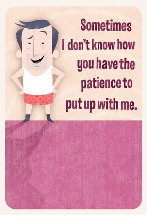 Put Up With Me Valentine's Day Card