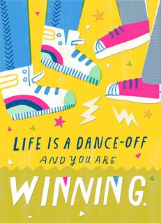 Dance-Off Blank Card,
