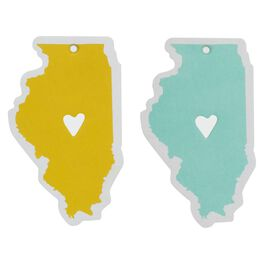 Illinois Silhouette Car Air Fresheners, Set of 2, , large