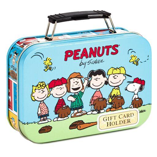 PeanutsR Gang Baseball Gift Card Holder Tin
